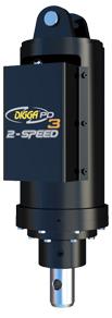 Dviejų greičių hidraulinės gręžimo pavaros mašinoms iki 8 tonų su standartiniu siurbliu