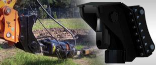 Ekskavatorių greitosios jungtys polių įrengimui