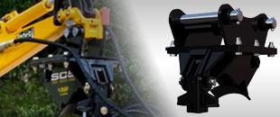 Ekskavatorių greitųjų jungčių siūbavimo kontrolės sistema
